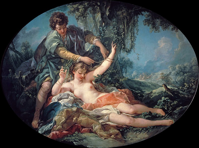 Sylvia Rescued by Aminta. Francois Boucher