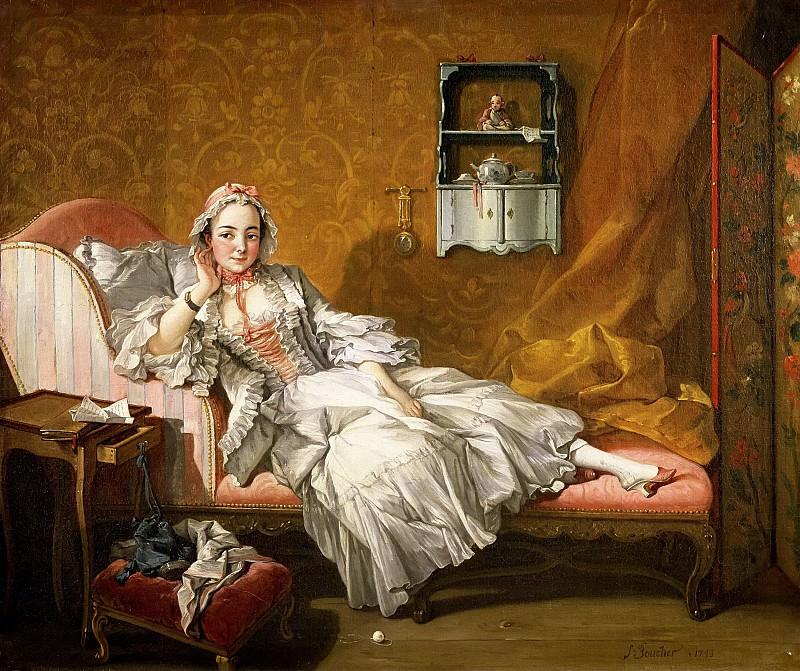 A Lady on Her Day Bed. Francois Boucher