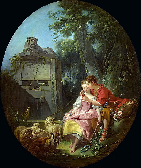 The Agreeable Lesson. Francois Boucher