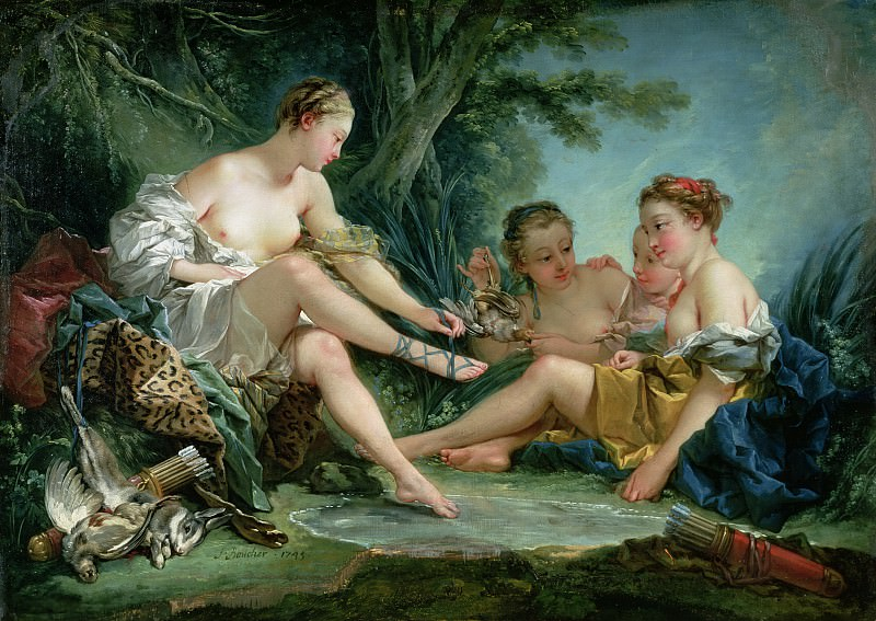 Diana after the Hunt. Francois Boucher