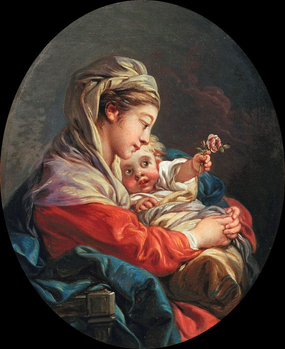 Virgin and Child. Francois Boucher