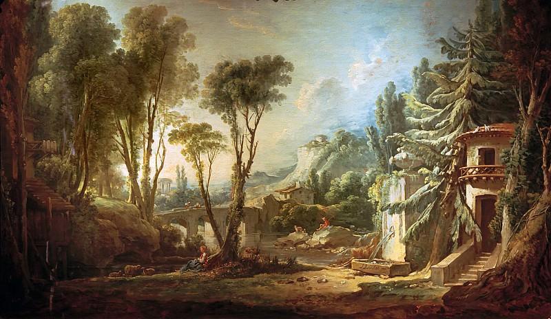 Pastoral landscape. Francois Boucher