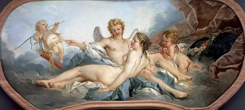 Cupid Wounding Psyche. Francois Boucher