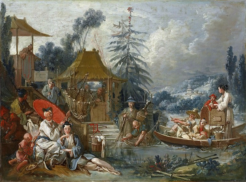Cartoons for tapestries - Chinese Fishing. Francois Boucher