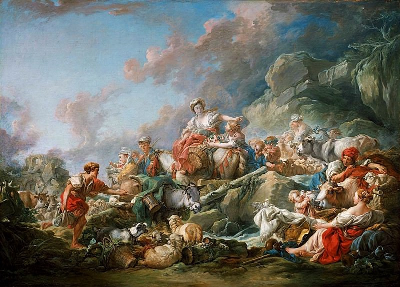 Return from Market. Francois Boucher