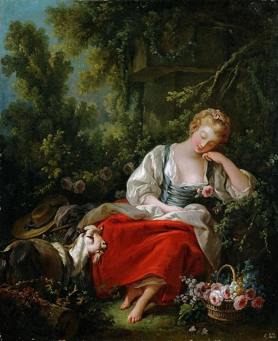 Sleeping shepherdess. Francois Boucher