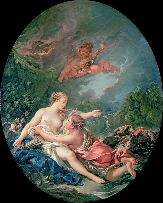 Jupiter and Callisto. Francois Boucher