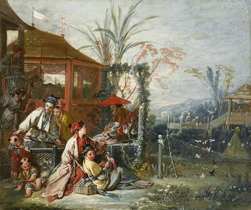 Cartoons for tapestries - Chinese Hunting. Francois Boucher
