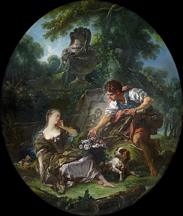 The Mysterious Basket. Francois Boucher