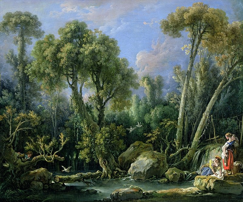 Laundresses in a Landscape. Francois Boucher