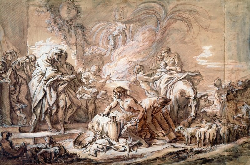 The Separation of Jacob and Laban. Francois Boucher