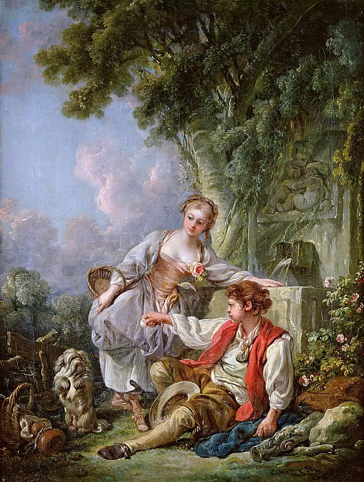 The Education of a Dog. Francois Boucher