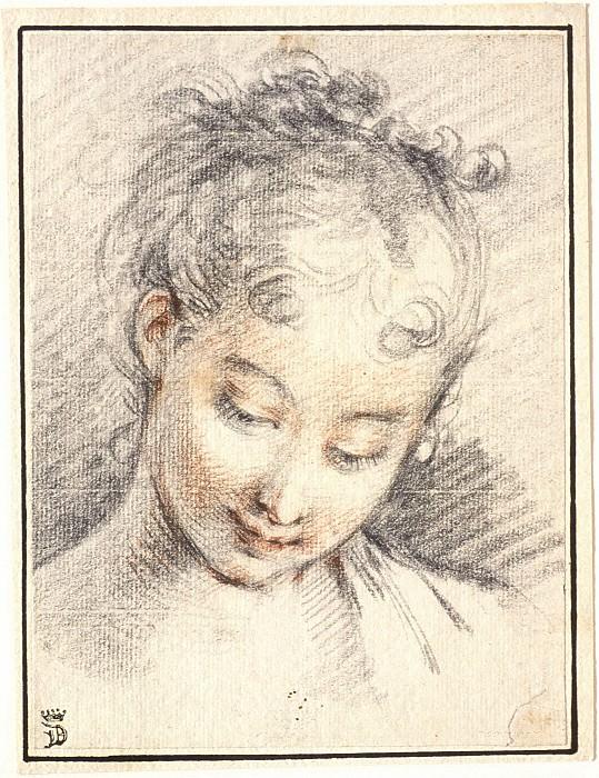 Head of a Girl. Francois Boucher