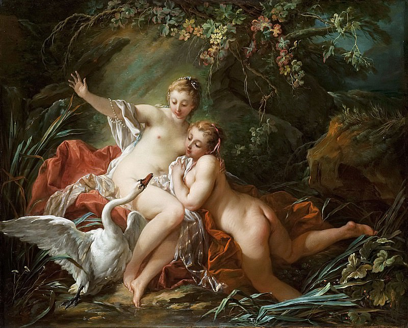 Leda and the swan. Francois Boucher
