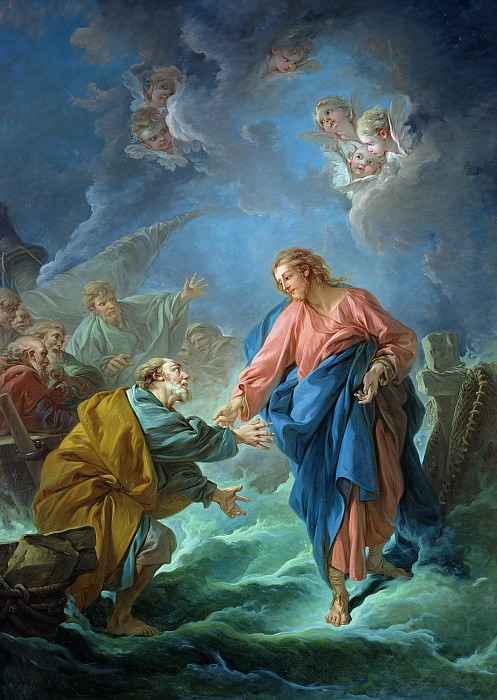 Saint Peter Invited to Walk on the Water. Francois Boucher