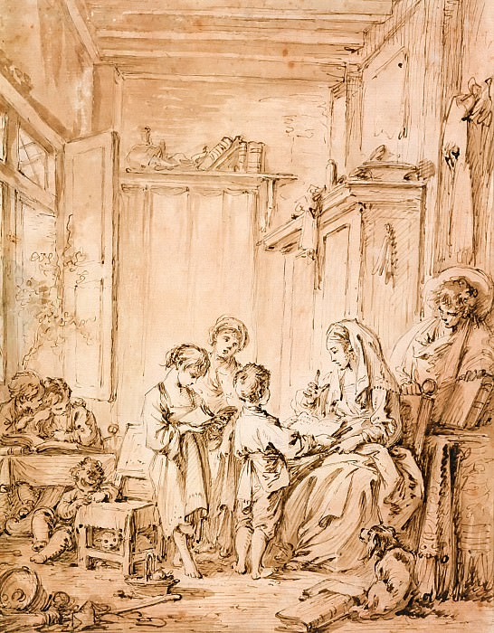 The Schoolroom. Francois Boucher
