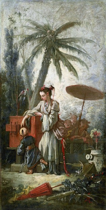 Cartoons for tapestries - Chinese curiosity. Francois Boucher