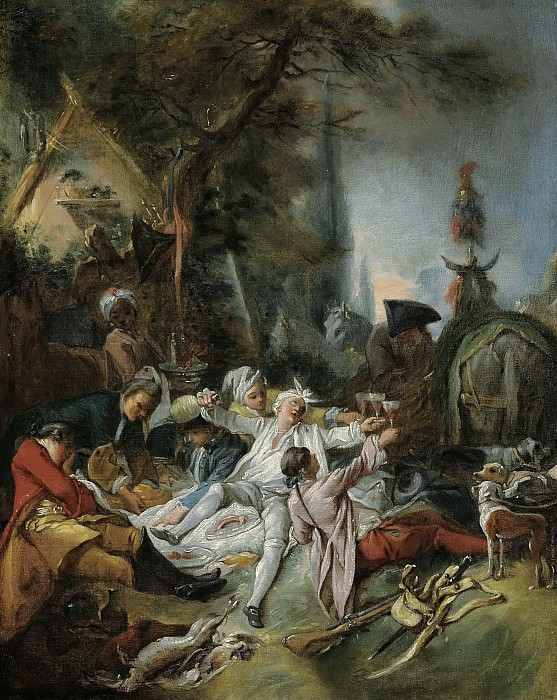 Rest on the hunt. Francois Boucher