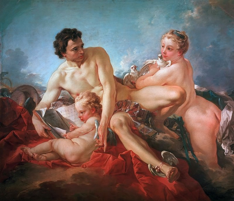 The Education of Cupid. Francois Boucher