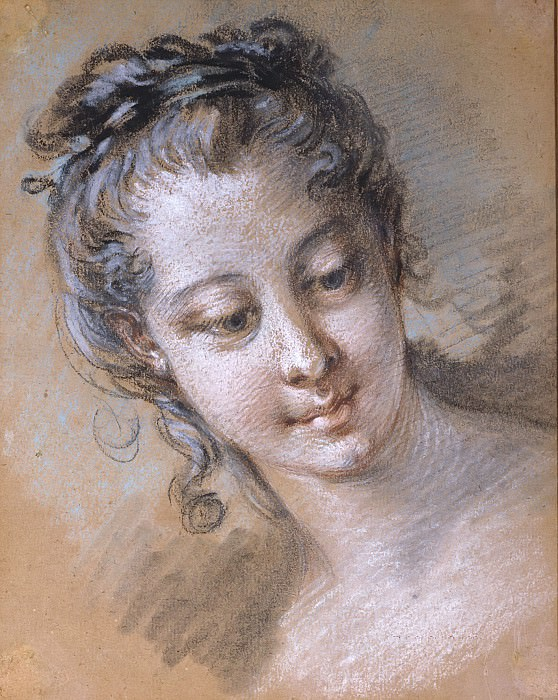 Head of a young girl. Francois Boucher