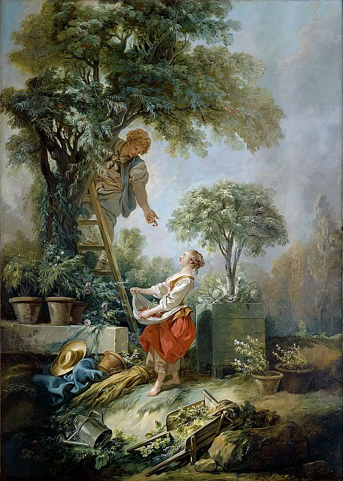The cherry gatherers. Francois Boucher