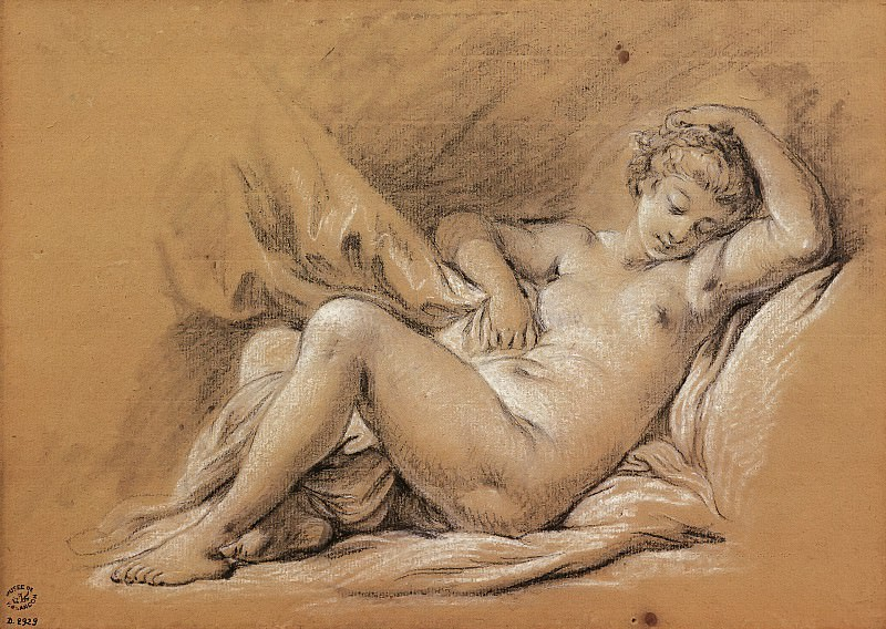 Nude Woman on a Bed. Francois Boucher