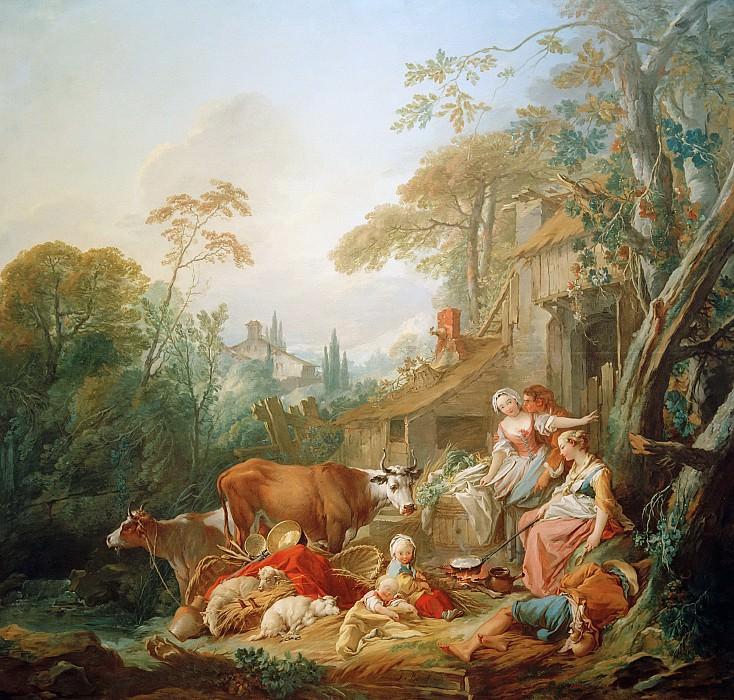Rural Idyll. Francois Boucher