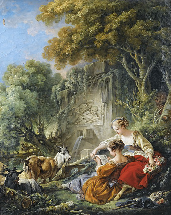 The Reading Of The Letter. Francois Boucher