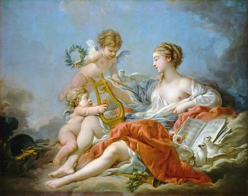 Allegory of Music. Francois Boucher