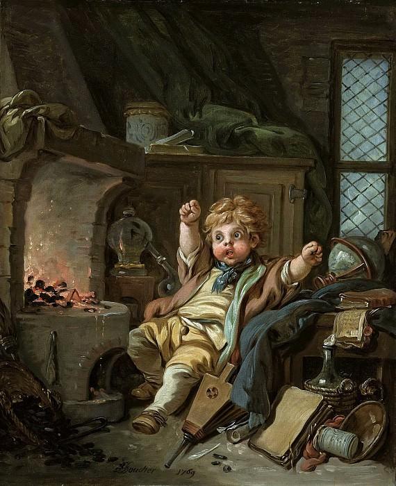The Little Alchemist. Francois Boucher