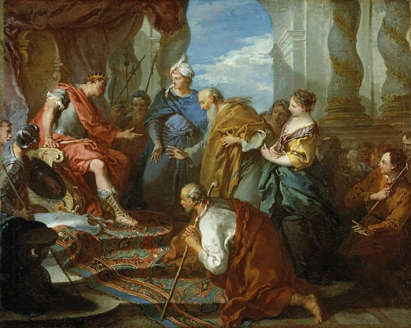 Joseph Presenting His Father and Brothers to the Pharaoh. Francois Boucher