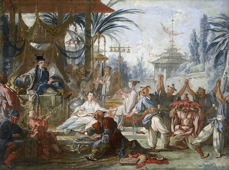Cartoons for tapestries - Chinese Dance. Francois Boucher