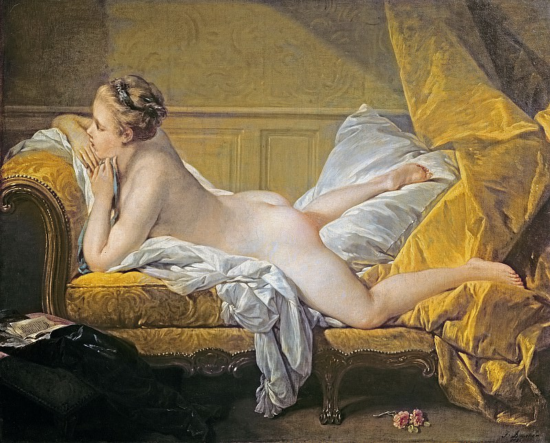 Nude on sofa (Miss O Murphy). Francois Boucher