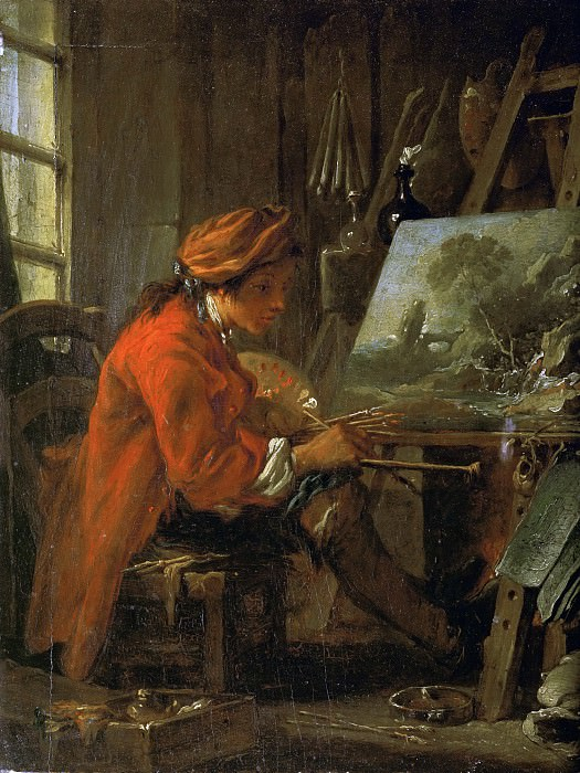 The Painter in His Studio. Francois Boucher