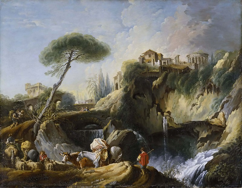 View of Tivoli with the Temple of Vesta. Francois Boucher