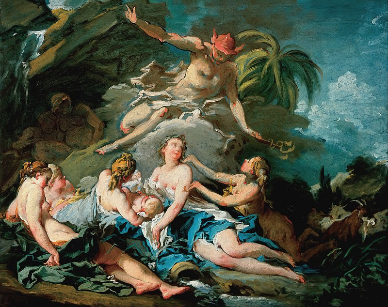Mercury Entrusting the Infant Bacchus to the Nymphs of Nysa. Francois Boucher