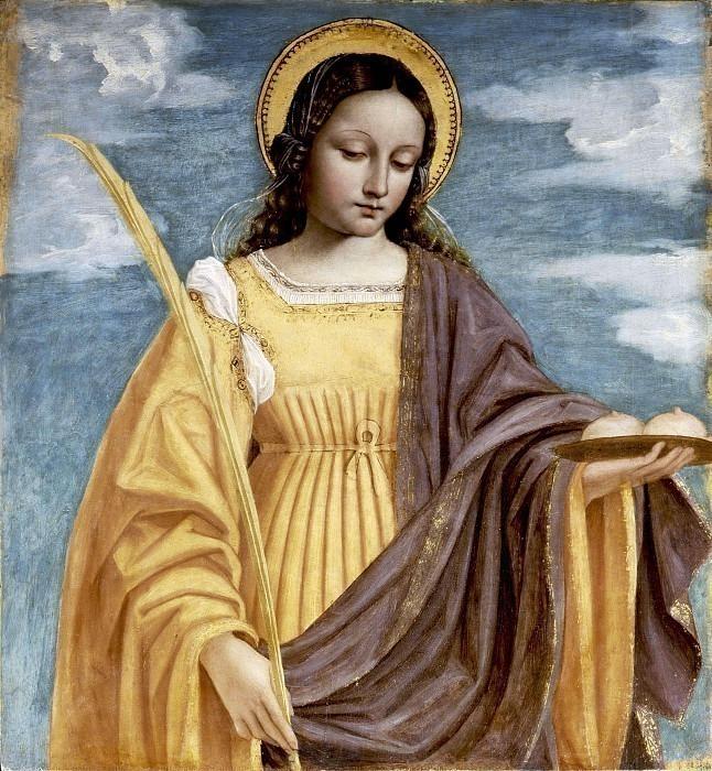 Святая Агата (полиптих святого Варфоломея). Бергоньоне (Амброджо да Фоссано)