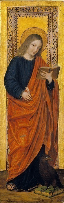Святой Иоанн Богослов (Диптих Баглиони). Бергоньоне (Амброджо да Фоссано)