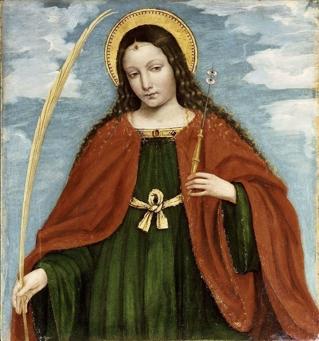 Санта Лючия (полиптих святого Варфоломея). Бергоньоне (Амброджо да Фоссано)