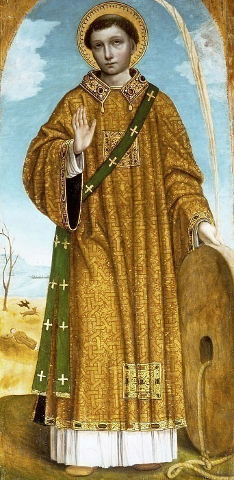 Сан-Винченцо (полиптих Сан-Бартоломео). Бергоньоне (Амброджо да Фоссано)
