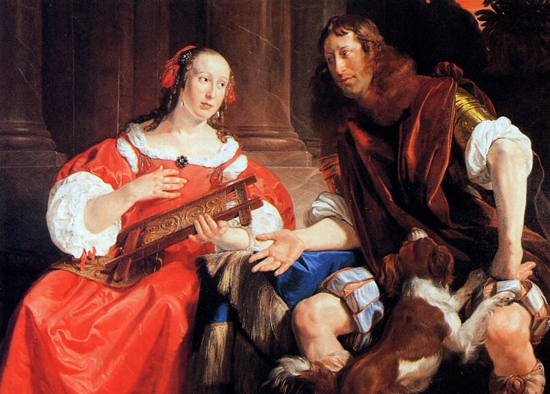A couple as Odysseus and Penelope. Jan De Braij