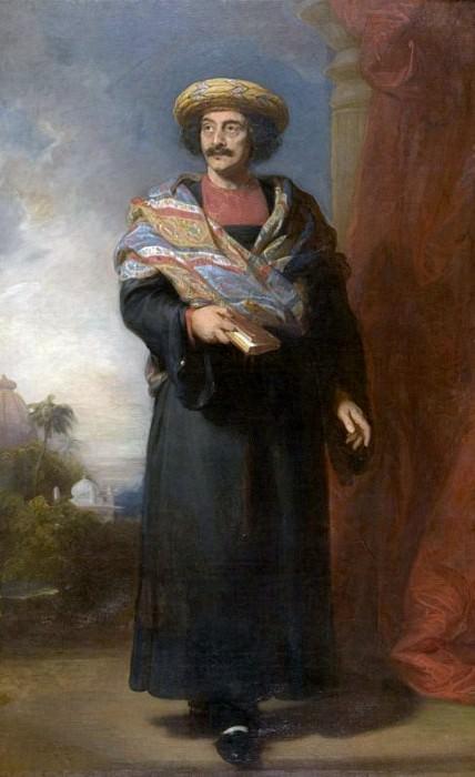Portrait of Rammohun Roy (1774-1833). Henry Perronet Briggs