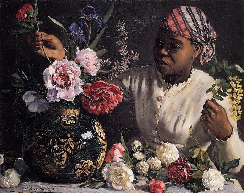 Африканка с пионами. Фредерик Базиль