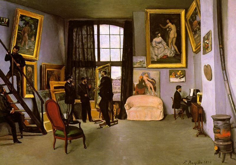 THE ARTISTS STUDIO RUE DE LA CONDAMINE 1870. Frederic Bazille