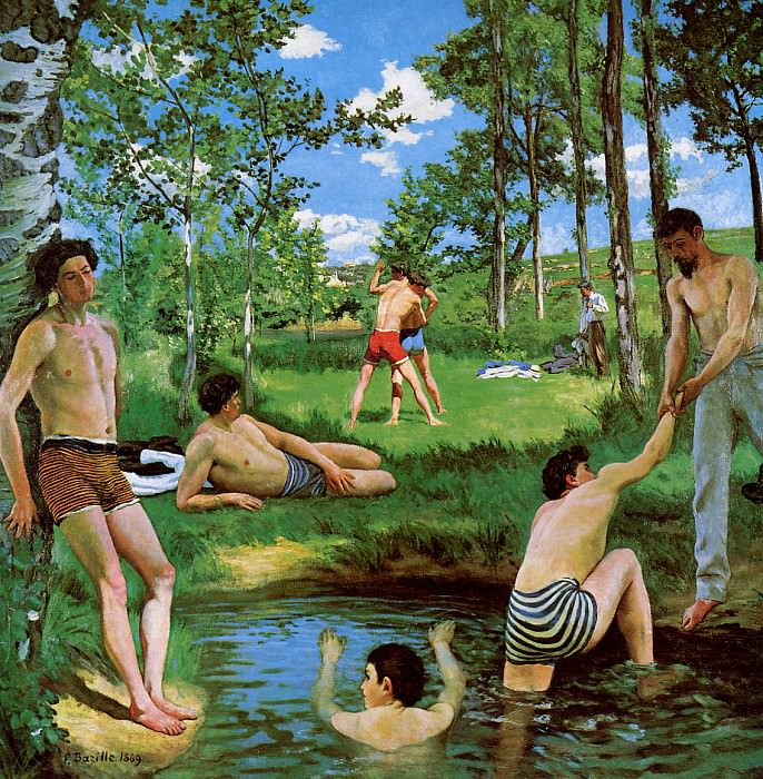 Summer merriment. Frederic Bazille