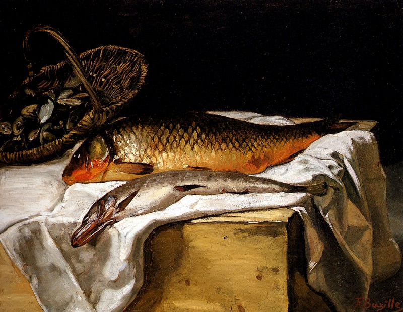Натюрморт с рыбой. Фредерик Базиль