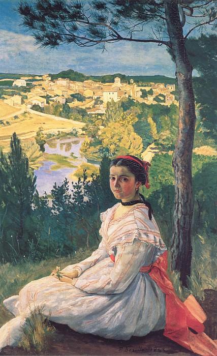Вид на деревню. Фредерик Базиль