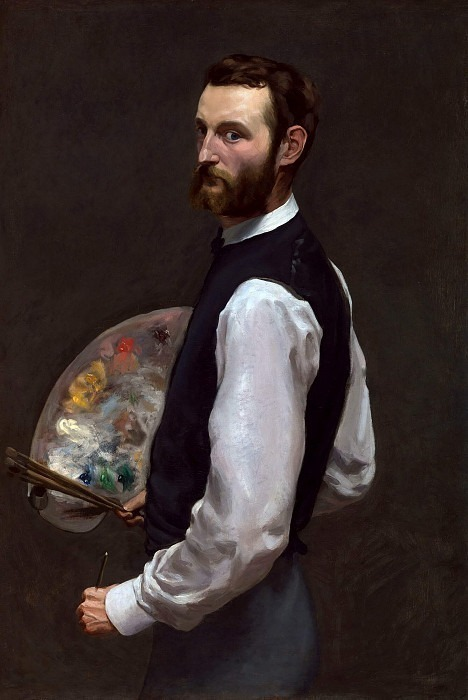SELF PORTRAIT 1865 66 OIL ON CANVAS. Frederic Bazille