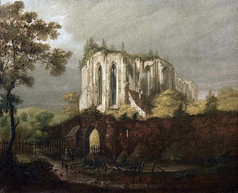 Ruins of Oybin Monastery. Carl Blechen