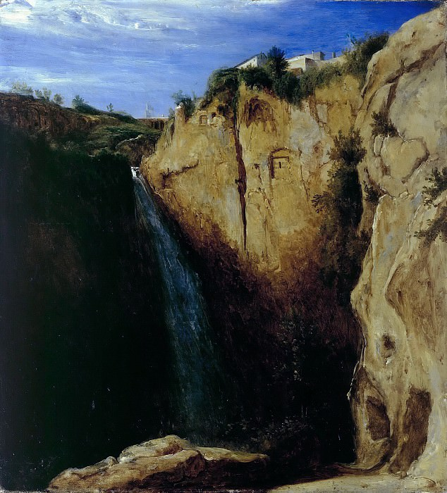 Waterfall at Tivoli. Carl Blechen
